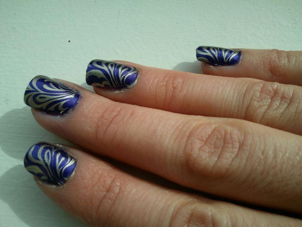 Mardi Gras Inspired Nails