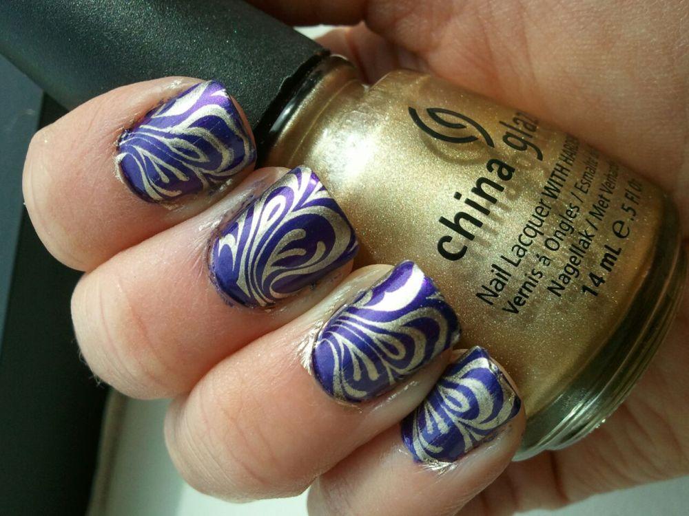 Mardi Gras Inspired Nails Take 2