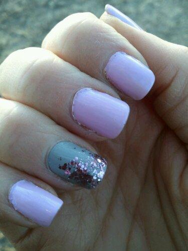 Pink and Grey mani!