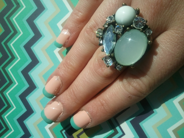 Zooey Daschanel Spring French Mani Copy Cat