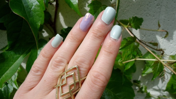 Pastel Pallet Mani and Cross Your Fingers Ring