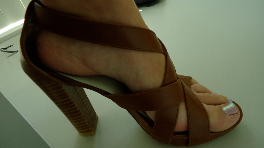 mark. Tall Order Sandals highlight a pedi