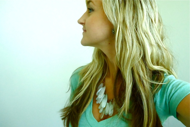 Minty Earrings and Beach Waves