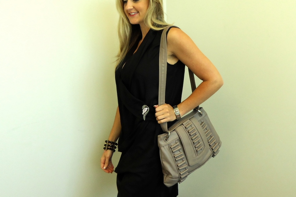 Michelle Vale Bag Worn With Long Strap