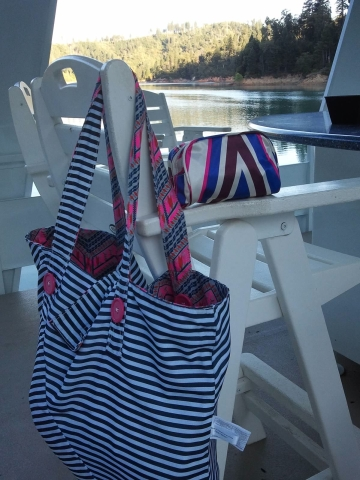 Fit To Print Reversible Tote and Go To Print Cosmetic Case