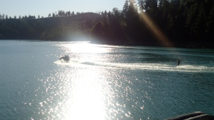 All the kiddos got up on the wakeboard... I did not even attempt!