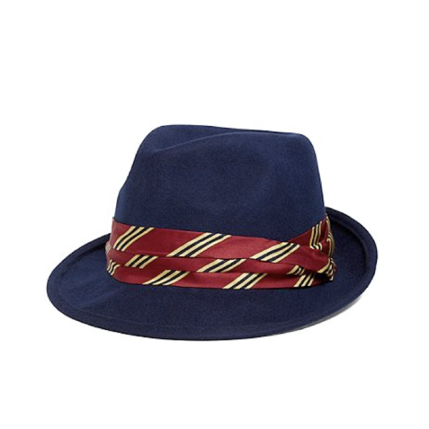 BB #1 Stripped Fedora in Navy