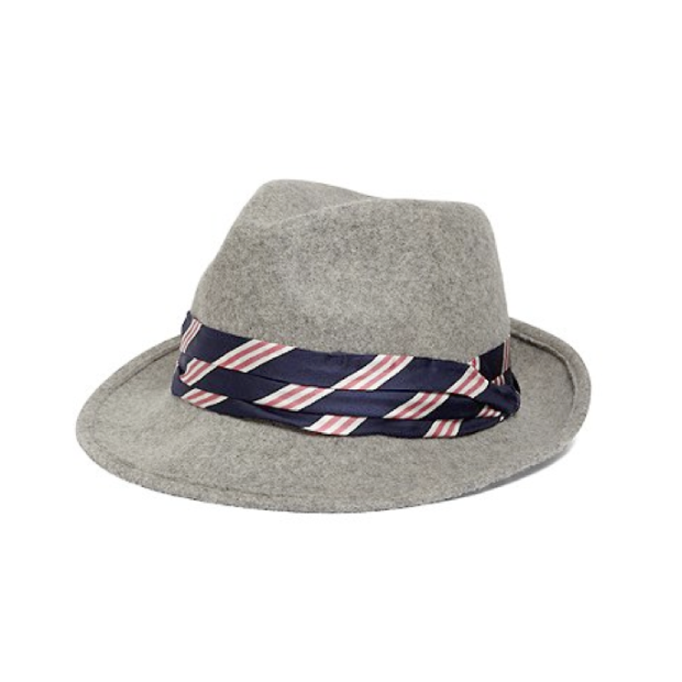 BB #1 Stripped Fedora in Grey