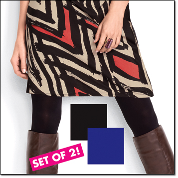 Do The Tight Thing Set of 2 tights in purple and black
