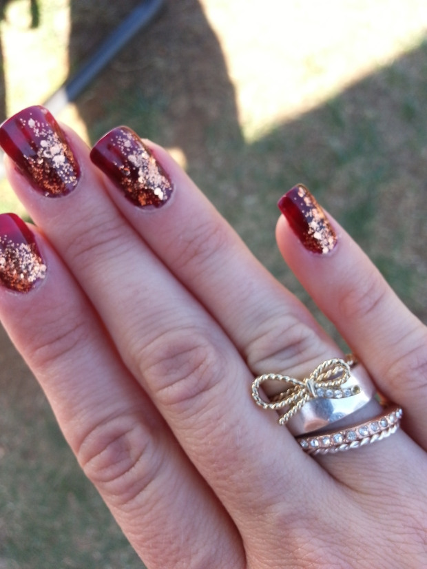 Oktoberfest Nails with mark. Great Ring Tones Ring Set