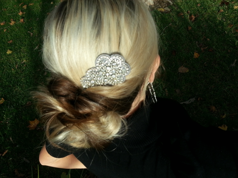 Quick and Easy Updo With Good Hair Day Clip