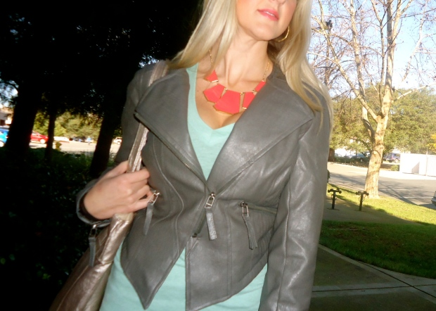 Little Bit Of An Edge Jacket NOW 45.99 and Great Shapes Necklace NOW $14.99