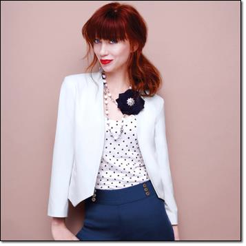 Nautical Dots Inspiration With the White On Time Blazer
