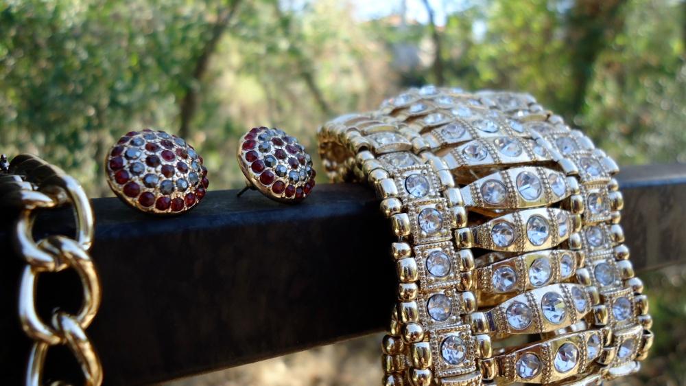 mark. Mosaic Details Earrings (with vintage mark. bracelet)