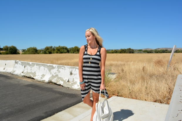 Easy Dress with Nautical Stripes