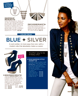 Fall Fashion Report - Blue + Silver
