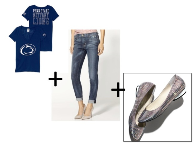PSU look with the mark. Glam and Go flats