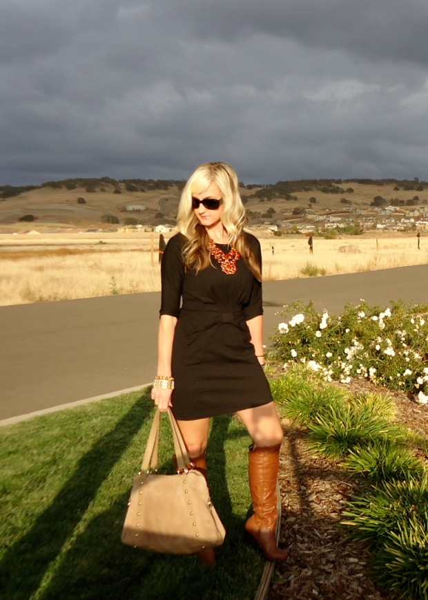 Some fall colors instantly make a LBD fall friendly