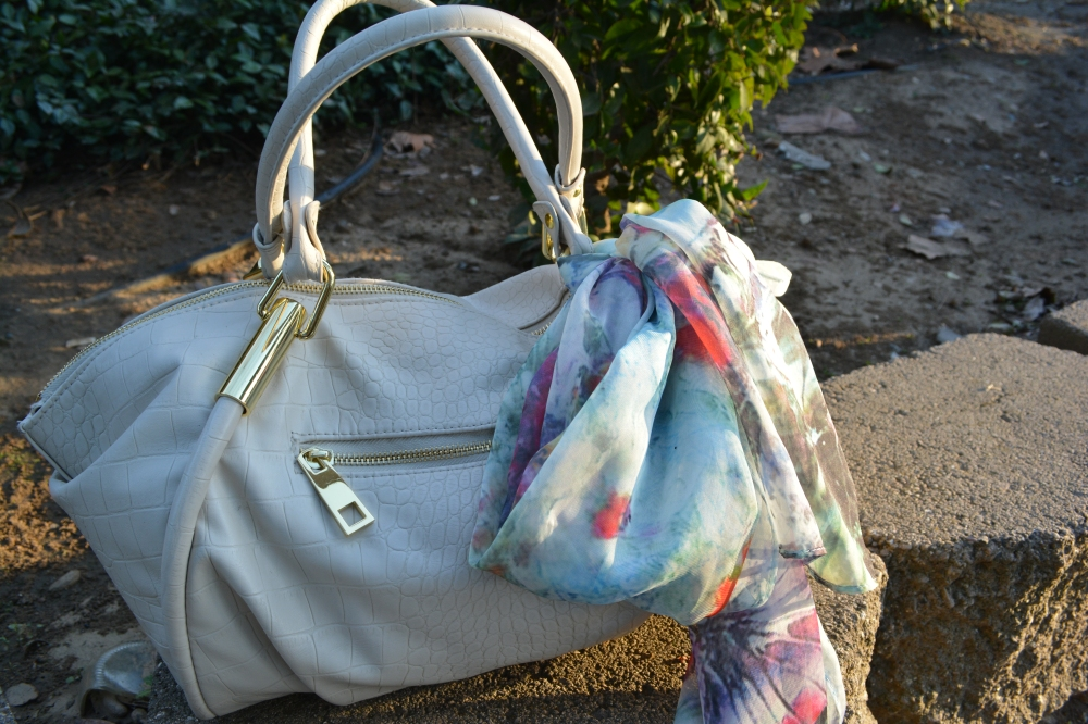 mark. Classic Hit Handbag and Fawn Over Flora Scarf
