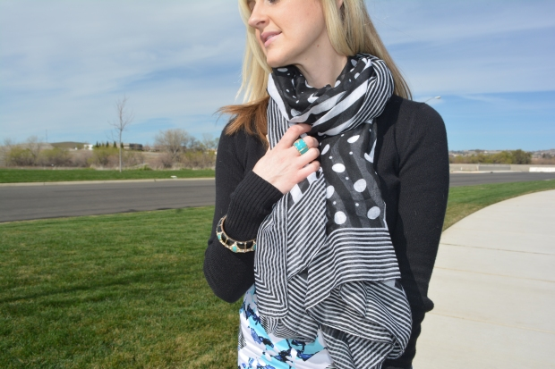 Avon Playful Patterned Scarf