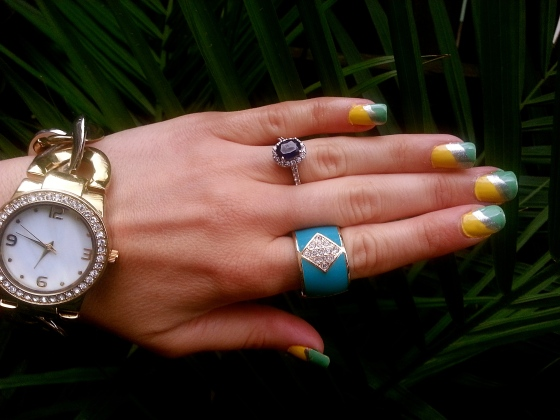 Colorblocked with mark. Nail This Look Set and All In Good Time Watch