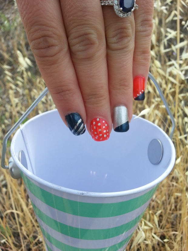Nautical Mani Carrying A Nautical Bucket