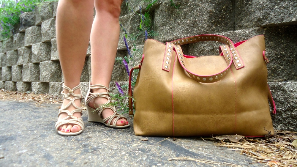 mark. Strappy Pretty Demi Wedge and Get Packing Tote