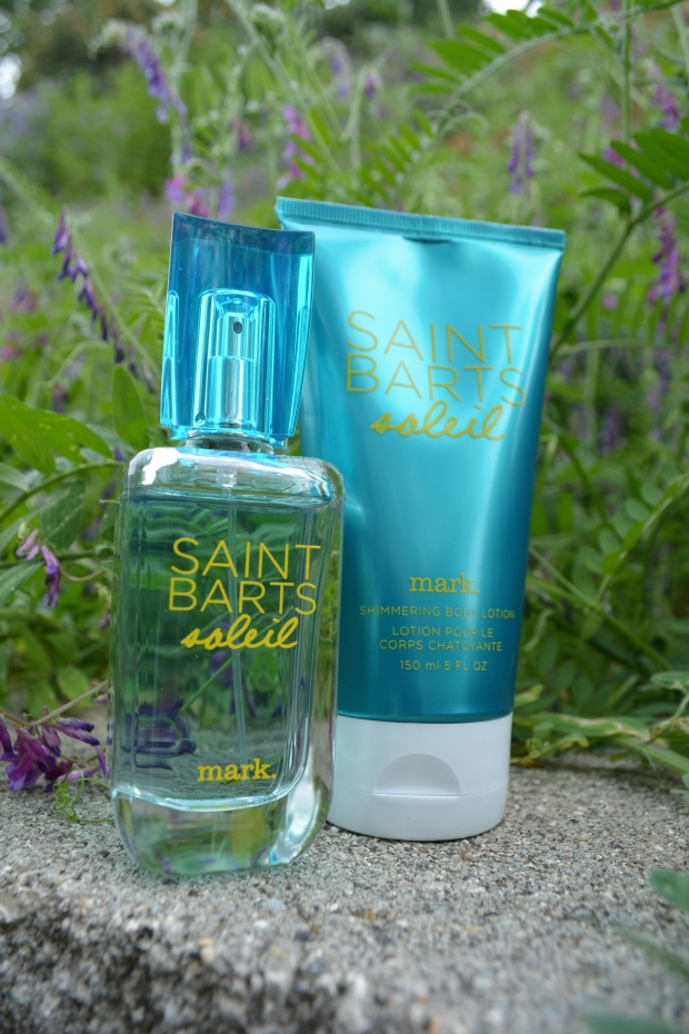 Layer mark. Saint Barts Shimmering Lotion under the Eau De Toilette Spray for Extra Staying Power