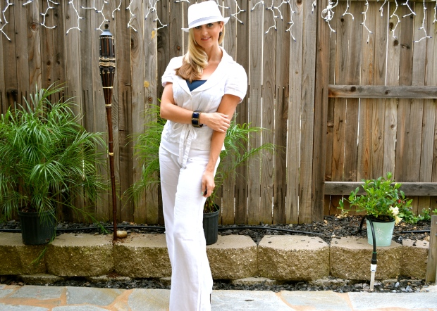 Nautical White Linen Total Look