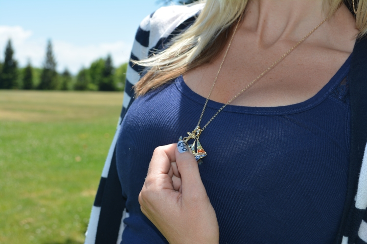 Anchors Away with the mark. Sail Away Duo Charm Necklace