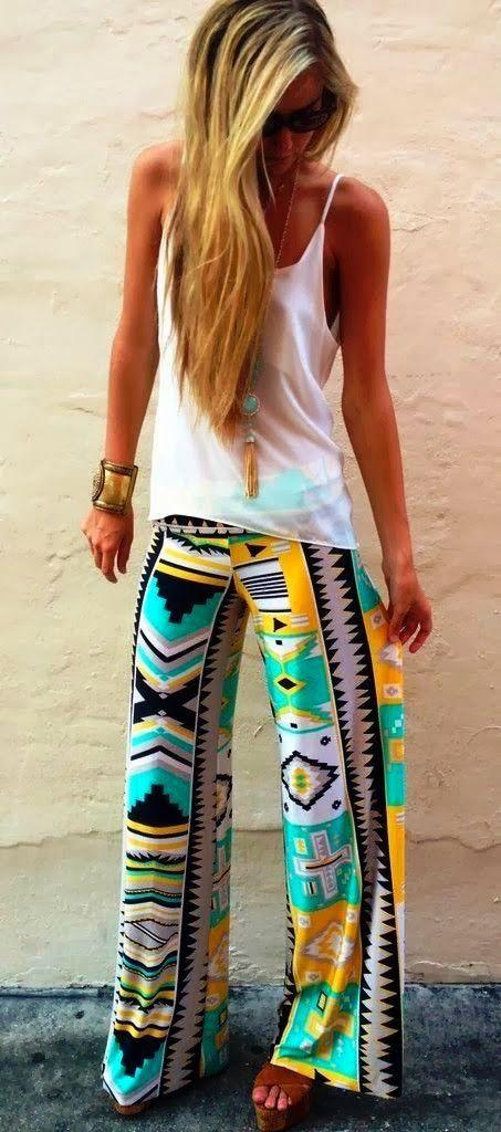 Aztec Plazo Pants
