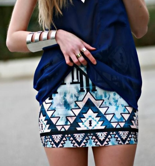 Navy Aztec and A Killer Statement Cuff