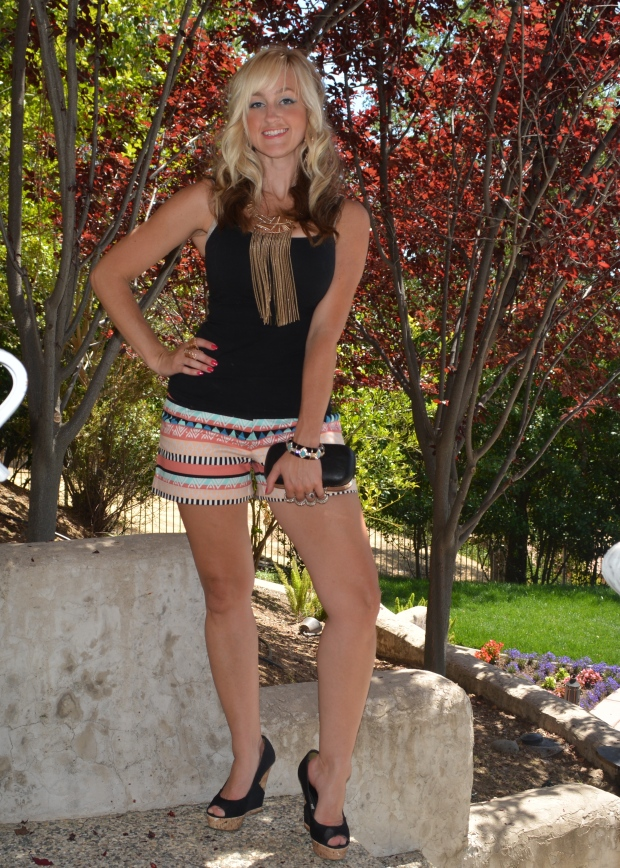 Taking The mark. Aztec Empire Shorts For A Night Out