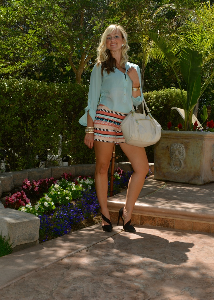Total Look:  Dressed Up mark. Aztec Empire Shorts