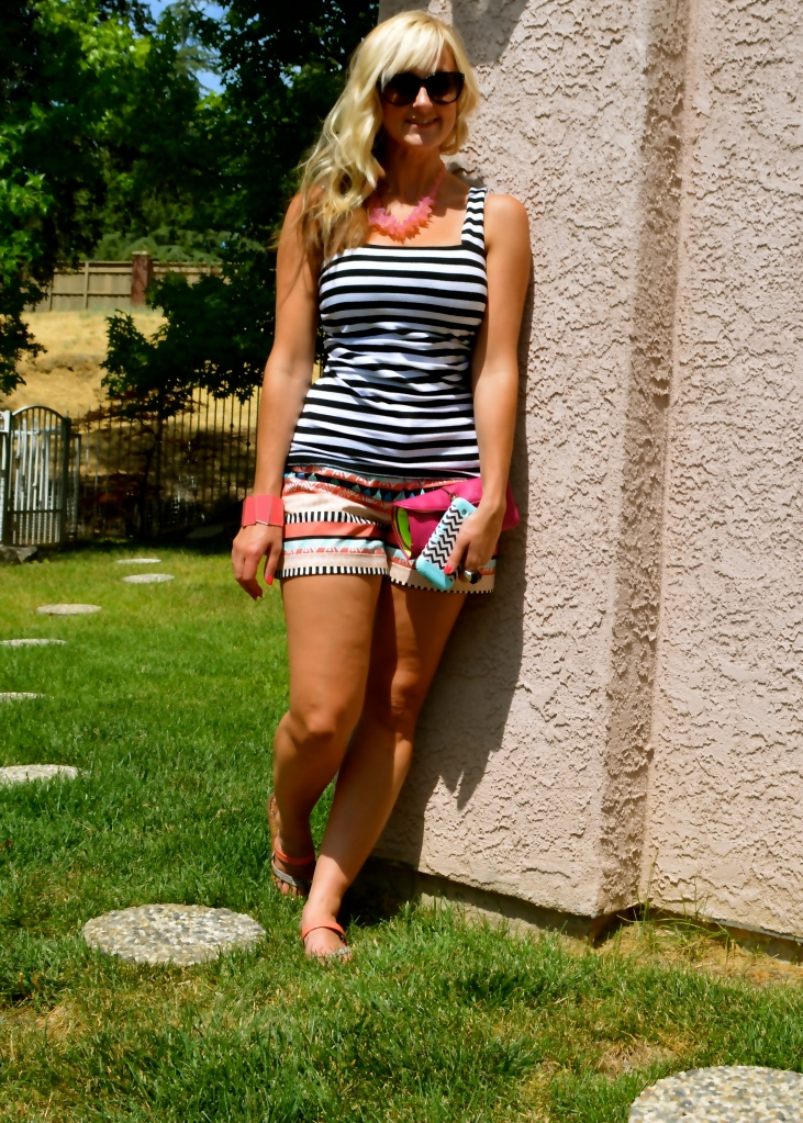Mixing Prints with mark. Aztec Empire Shorts