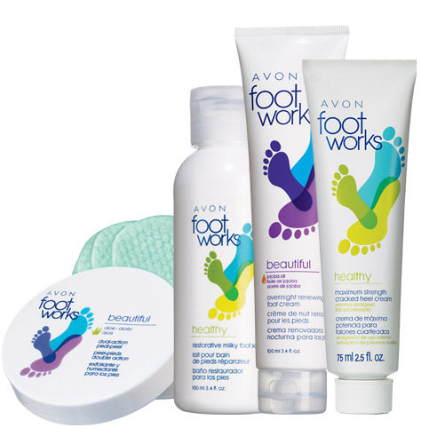 Avon Foot Works Beautiful & Healthy 4-Piece Fabulous Foot Collection for $9.99