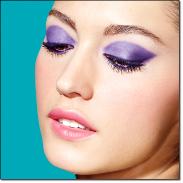 Get The Look:  mark. Neon Glaze in Violet Fever and Neon Kisses in Neon Kisses