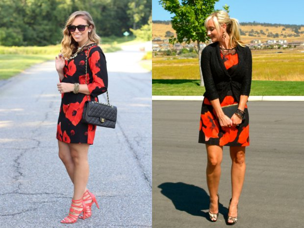 Wear and Share Wednesday: mark. Dark Blooms Dress