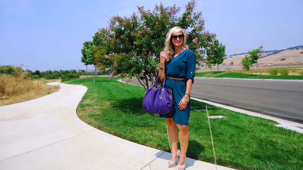 Easy dressing with a shirtdress