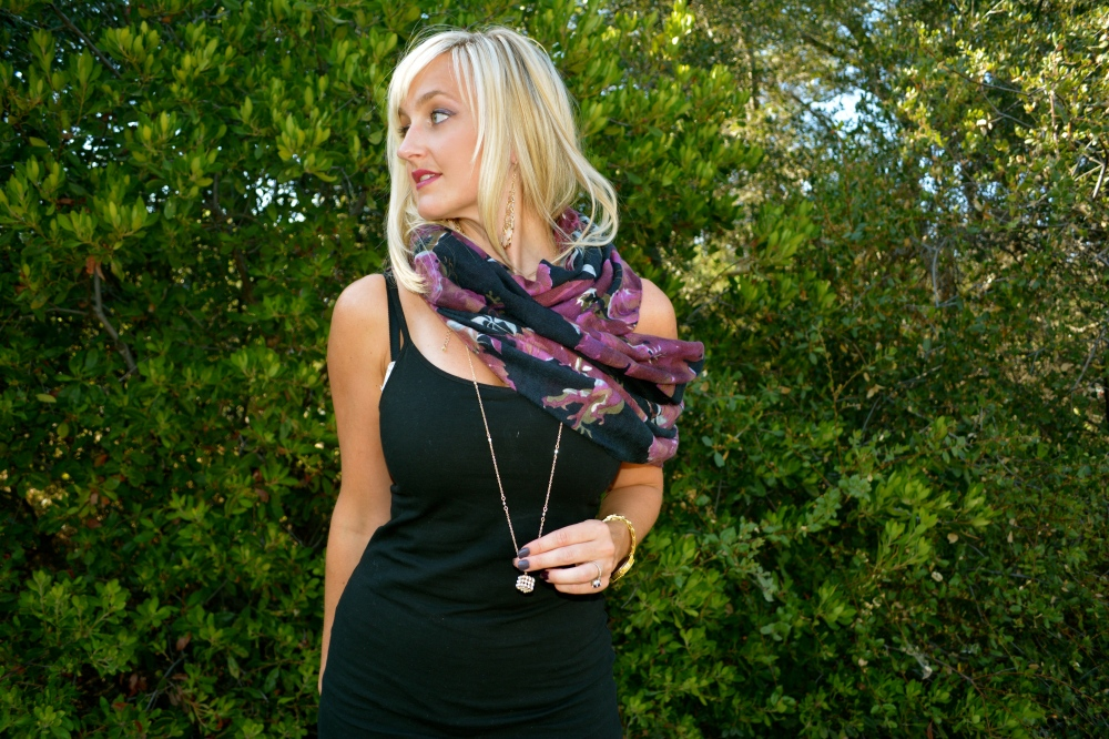 Infinity Scarf Over One Shoulder