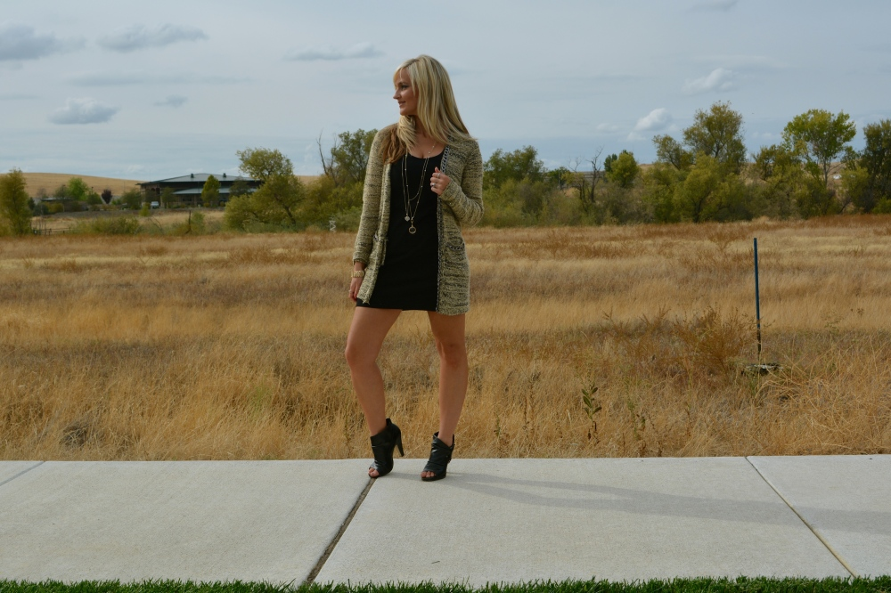 Fall Perfection in a sweater, mark. Chain of Command Cardigan