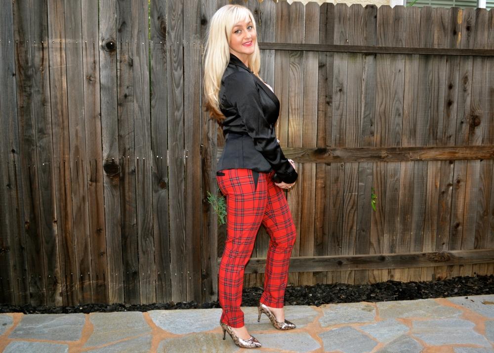 A Black Blazer Keeps Plaid Pants Wearable