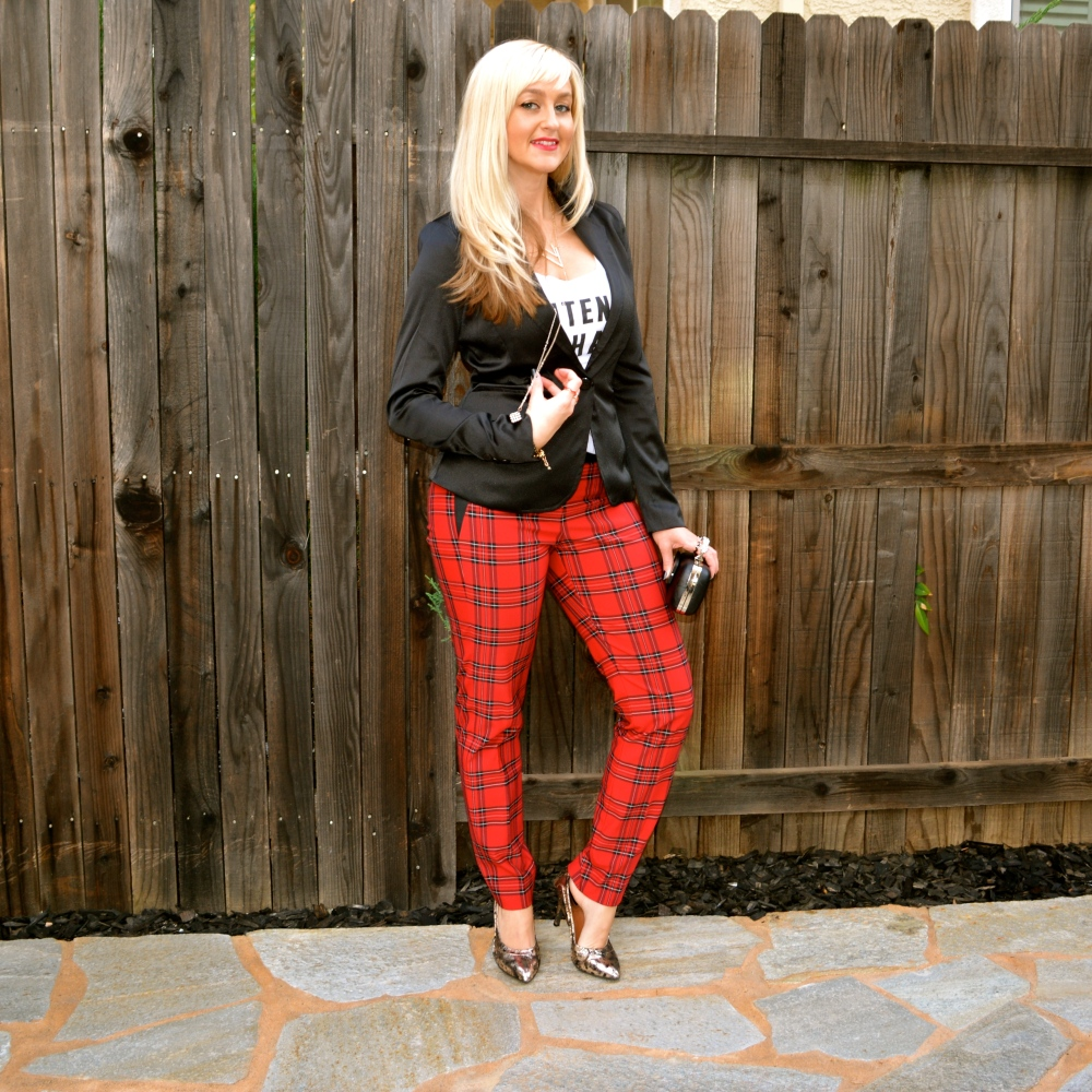 Red Plaid Pants For Holiday