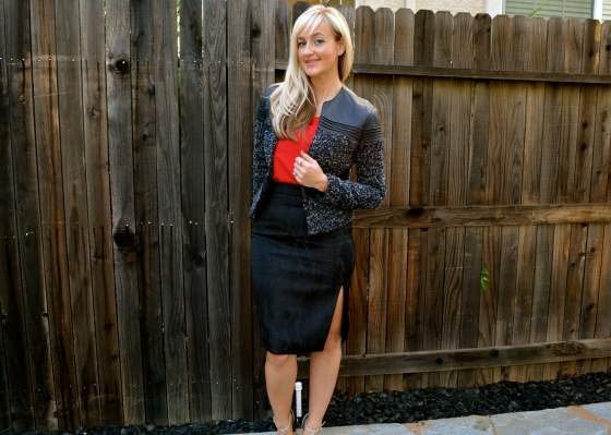 Boucle and Pencil Skirt