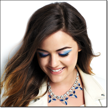 Lucy Hale's Ice Princess Look by make up artist Jamie Greenberg