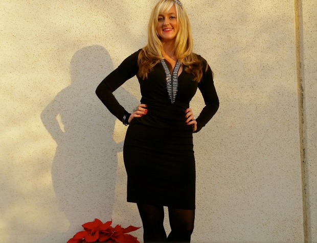 LBD and Black Tights for a Black Base