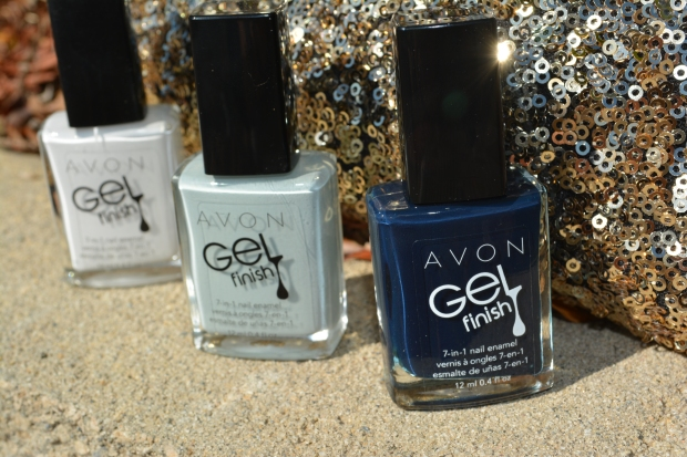 Avon Gel Finish in Iceberg White, Alaska and Inked Up (L to R)
