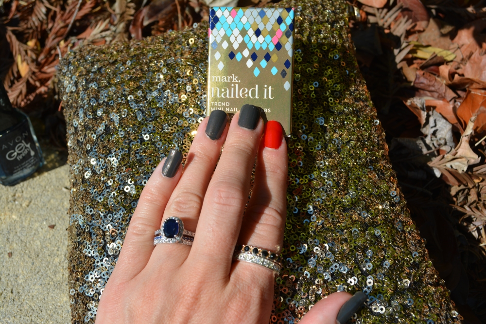 Nailed It:  Hot Coal with Firestarter Accent Nail