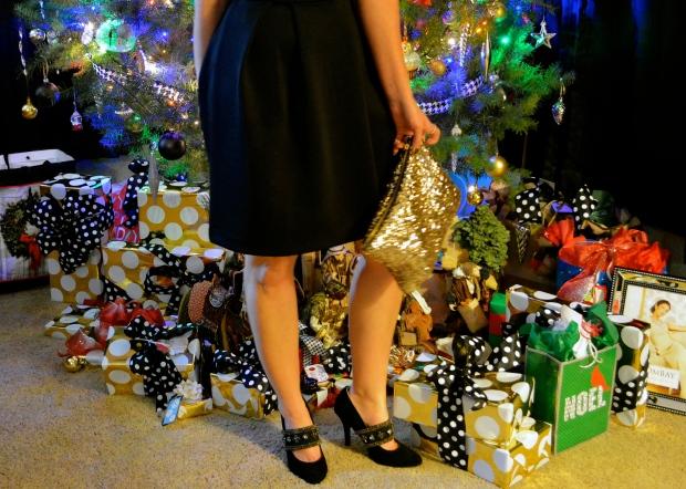 Sequin Clutch and mark. Opulent Charm Heels