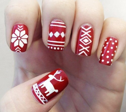 Fair Isle Nails
